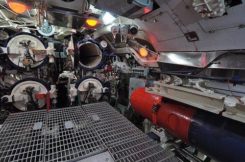 Interior sala de torpedos